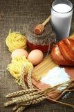 хлеб eggs молоко Стоковая Фотография RF