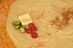 Хлеб Lavash, иранский белый Flatbread стоковое изображение