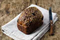 Хлеб Rye с черносливами и гайками стоковое изображение