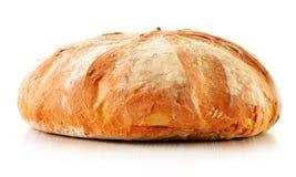 Хлеец больших хлеба и кренов на белизне Стоковая Фотография