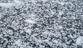 Хлопья снега на замороженном озере стоковое изображение rf