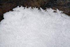 Хлопь снега и льда от замороженного Стоковые Фотографии RF