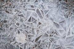 Хлопь снега и льда от замороженного Стоковое Изображение