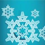 Хлопь 2 снежка Стоковое Изображение