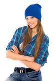 хмель вальмы девушки стоковая фотография rf