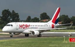 ХМЕЛЬ Embraer E145! Air France стоковое изображение rf