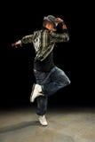 хмель вальмы танцора афроамериканца стоковое изображение rf