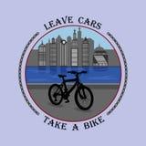 Хмель на вашем велосипеде и здоров Стоковые Изображения