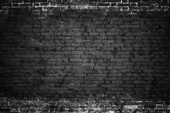 Хмурая предпосылка, черная кирпичная стена темной каменной текстуры Стоковое фото RF