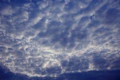 Хмурая серая текстура неба Стоковые Изображения RF