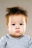 Хмуриться младенец глаза стоковые изображения