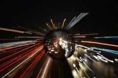 Хмурые света города стоковое фото rf