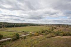 Хмурый ландшафт осени Стоковые Фото