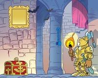 Хмурый старый замок иллюстрация штока