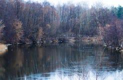 Хмурый, тяжелый, река Psel зимы Стоковые Фотографии RF