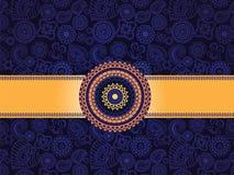 хна знамени предпосылки голубая безшовная Стоковое Фото