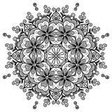 Хна мандалы Стоковая Фотография RF