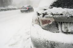 Хобот карбюратора в снеге Стоковые Фото
