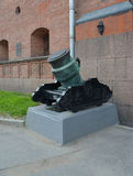 Хобот миномета 375 mm obsidional столетия XVIII Стоковые Изображения RF