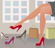 ходить по магазинам ботинок Стоковые Изображения RF