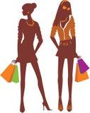 ходить по магазинам девушок Стоковое Изображение
