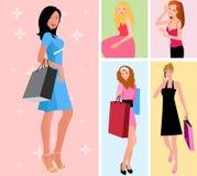 ходить по магазинам девушок Стоковые Фото