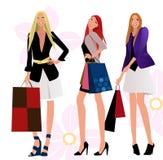 ходить по магазинам девушок Стоковые Изображения RF