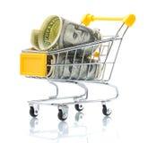 ходить по магазинам долларов тележки Стоковая Фотография RF