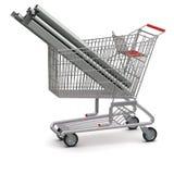 ходить по магазинам металла тележки ваш Стоковая Фотография RF