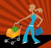 ходить по магазинам плодоовощей Стоковая Фотография
