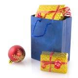 ходить по магазинам подарков на рождество мешка Стоковая Фотография RF