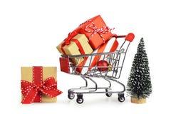 Ходить по магазинам подарков рождества стоковые фото