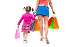 Ходить по магазинам семей Стоковые Изображения