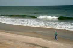 ходок пляжа Стоковое фото RF