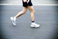 ход бегунка марафона города Стоковое фото RF