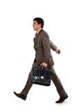 ход бизнесмена портфеля Стоковое фото RF