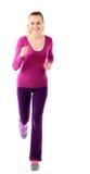 Ход женщины изолированный на белизне Стоковое Изображение RF