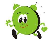 ход зеленого цвета часов Стоковые Фотографии RF
