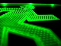 ход зеленого человека 2 Стоковые Изображения