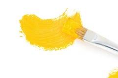 Ход краски щетки и масла на белизне Стоковые Изображения
