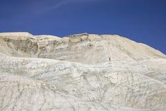 Ход следа в пустыне стоковая фотография rf