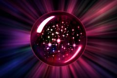 Ход шарика звезд Moving другой размер иллюстрация штока