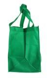Хозяйственная сумка зеленого цвета Eco Стоковое Фото