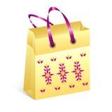 Хозяйственная сумка с поводом пасхи Стоковые Изображения