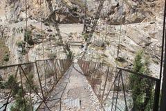 Хозяйственность приостанавливая мост Стоковая Фотография RF
