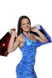 Хозяйственные сумки женщины Стоковое фото RF