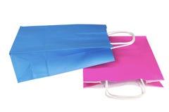 Хозяйственные сумки изолированные на белом backround Стоковое Фото