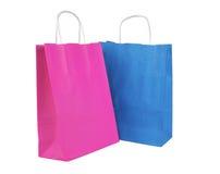 Хозяйственные сумки изолированные на белом backround Стоковые Изображения RF