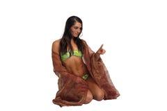 хозяюшка атлетического красивейшего бикини 3 одетая Стоковые Изображения RF