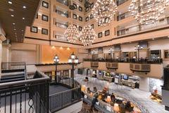 Хоккаидо, Япония - 11-ое января 2017: Kiroro курорт 5 звезд Стоковое фото RF